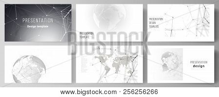 Vector Layout Of The Presentation Slides Design Business Templates. Futuristic Geometric Design With