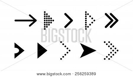Arrow Vector Icon. Arrow. Arrows Vector Collection. Set Black Vector Arrows Icon .