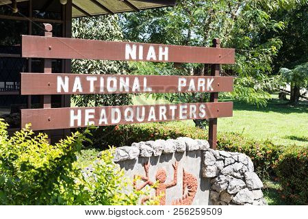 Miri, Sarawak, September 1St, 2018: Niah National Park Hq Is The Administration Center On Admission