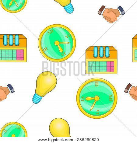 Corporation Pattern. Cartoon Illustration Of Corporation Pattern For Web