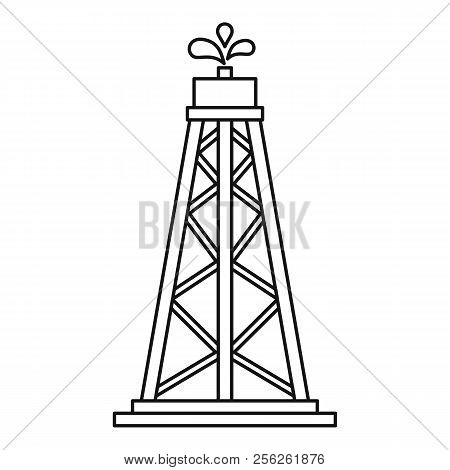 Oil Resources Icon. Outline Illustration Of Oil Resources Icon For Webicon. Outline Illustration Of