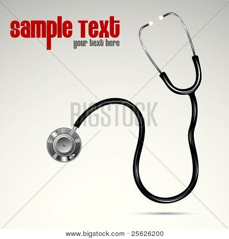 illustration of stethoscope on abstract background