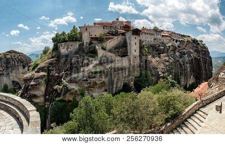 Meteors Or Meteora Monastery Of Great Meteoron, Thessaly, Greece