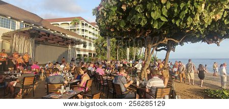 Lahaina, Hawaii, July 24. Lahaina On July 24, 2018, On Maui, Hawaii. A Scene From The Feast At Lele