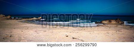 Landscape With Sand New Soyeenat Beach At Mersa Matruh, Egypt