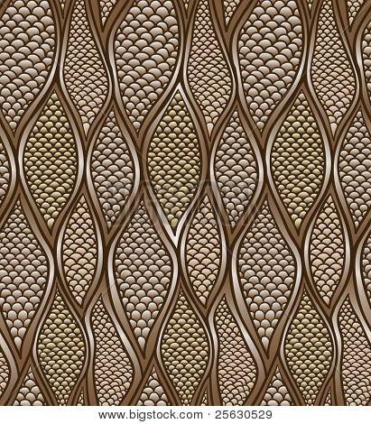 Stylized snake skin. Seamless pattern