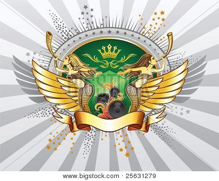 Valkyries Blows The Horns Shield Insignia