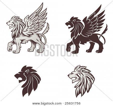 Winged Lion Illustration