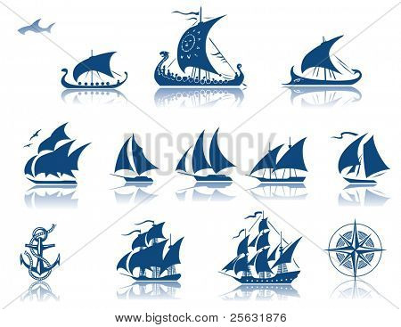 Sailing Ships of the past  iconset