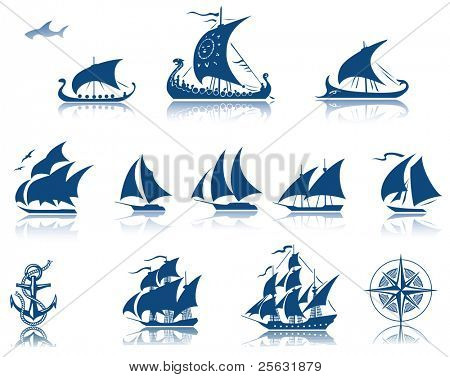 Sailing ships raster Iconset
