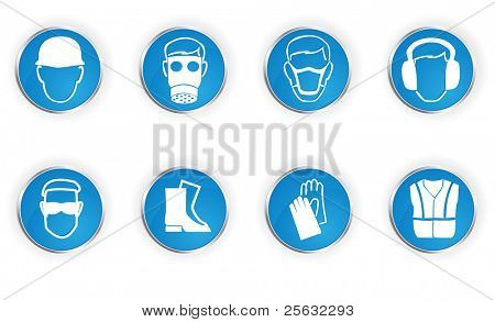 Icons representing 8 important safety instructions.