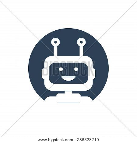 Chat Bot Icon Background. Virtual Assistant For Website. Chat Bot Concept For Customer Service. Vect