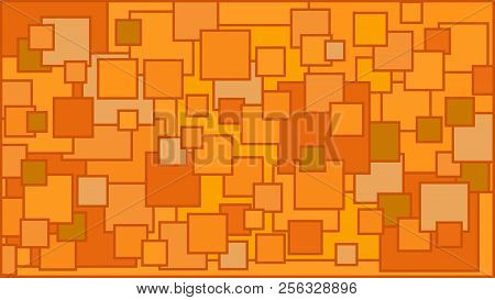 Squares In Various Shades Of Orange Background - Illustration,  Illustration With Squares,  Orange S