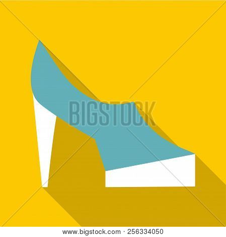 One Shoe Icon. Flat Illustration Of One Shoe Icon For Web