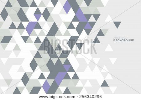 Abstract Geometric Background. Background Of Geometric Shapes. Colorful Mosaic Pattern. Retro Triang