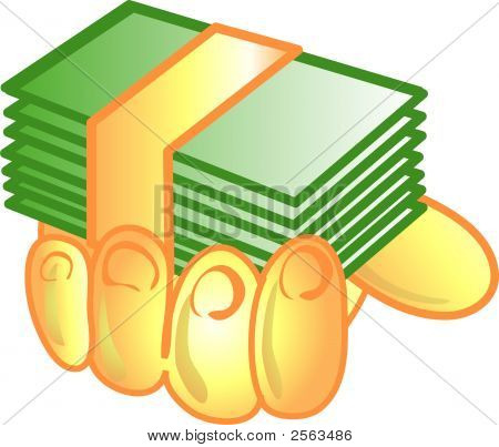 Money In Hand Icon Or Symbol