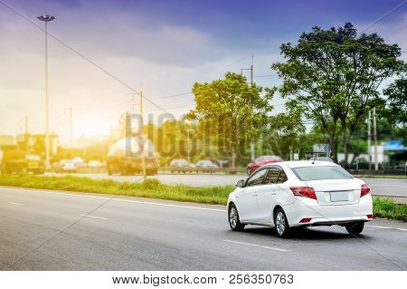 Car Driving On Road,car On Highway Road Transportation