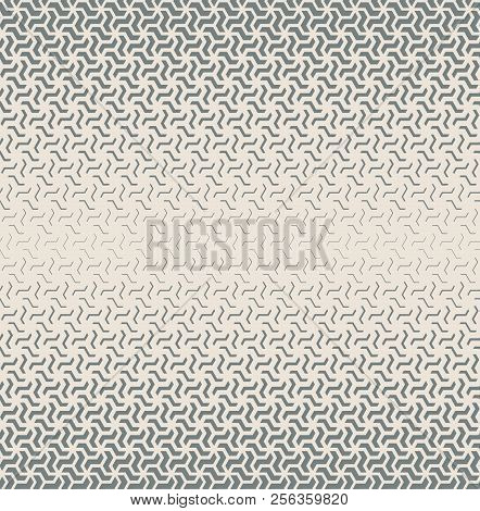 Abstract Geometric Pattern. Seamless Vector Background. Grey Halftone. Graphic Modern Pattern. Simpl