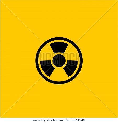Radiation Flat Vector Icon. Radiation Vector Sign