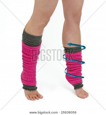 Aerobic Legs With 3D Arrow