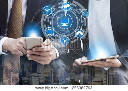 Mobile Phone Telecommunication Technology Concept