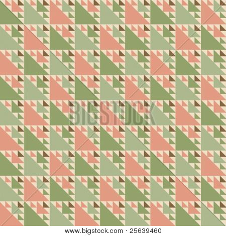 A triangular shaped, color vector pattern