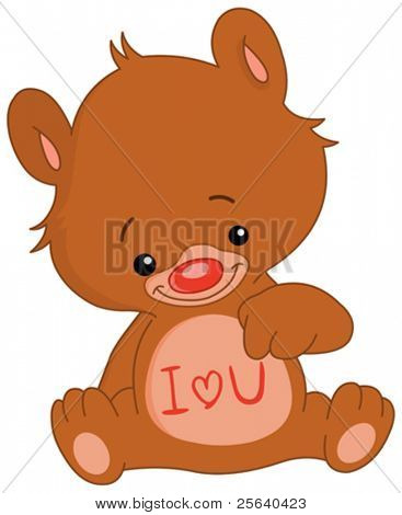 I love U teddy bear