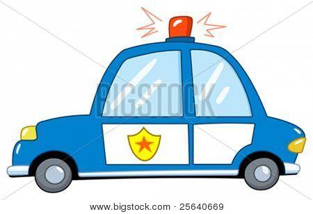 Police car cartoon