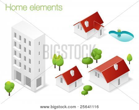 Design set of home elements