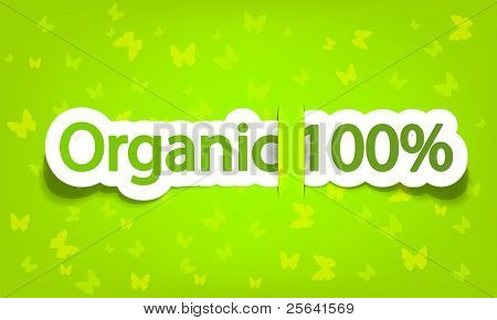 vector organic 100%; realistic cut, takes the background color