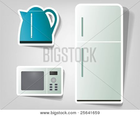 set icon of household appliances
