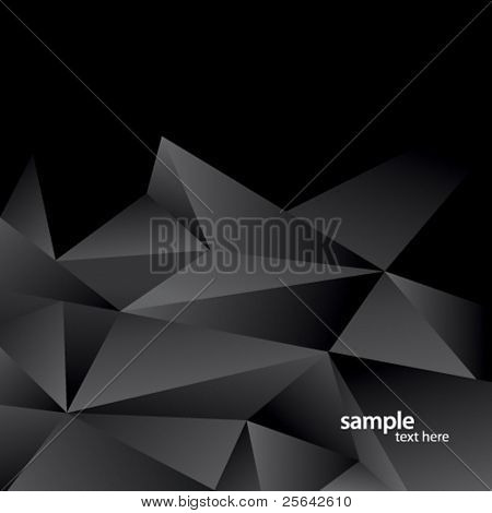 Modern abstract background of black triangles