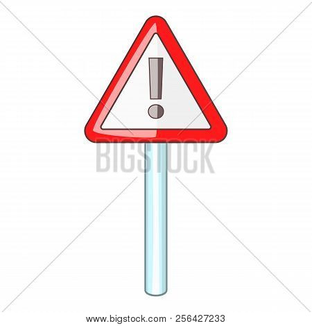 Warning Sign Icon. Cartoon Illustration Of Warning Sign Icon For Web