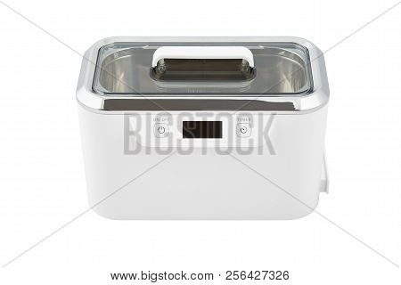 Ultrasonic Cleaner  For Glasses, Jewelry, Watches And More, Isolated On White