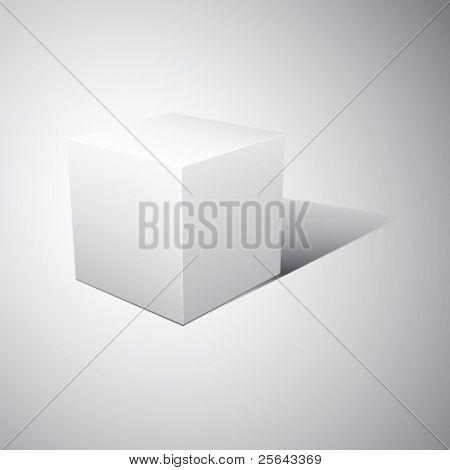3D cube. Vector illustration