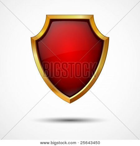 Shield on a white background. Vector icon.