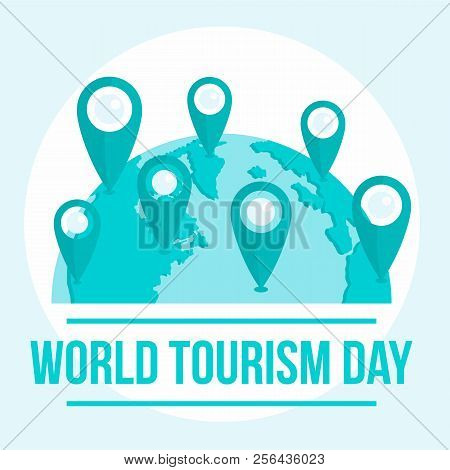 International Tourism Day Background. Flat Illustration Of International Tourism Day Vector Backgrou