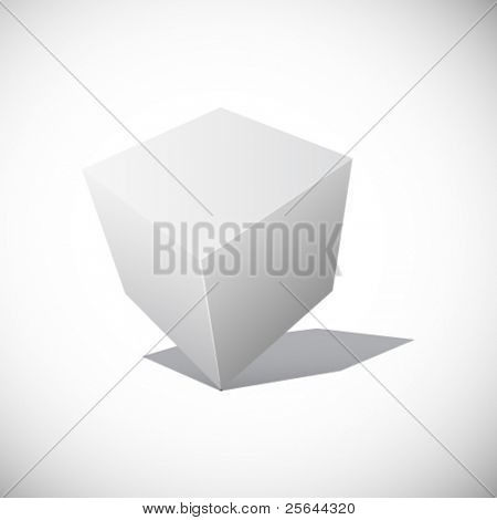 Abstract cube. Vector illustration. eps8