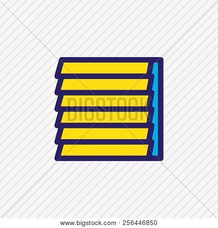 Vector Illustration Of Window Siding Icon Colored Line. Beautiful Industry Element Also Can Be Used