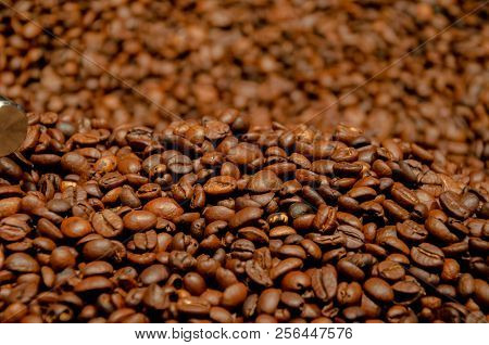 Coffee Beans Pattern With Depth Of Field