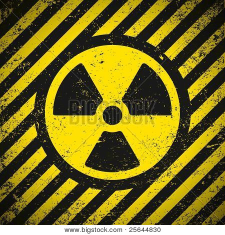 Sign radiation. Vector illustration. Eps10