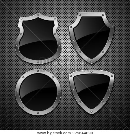 Set of vector shields. Vector illustration. Eps 10