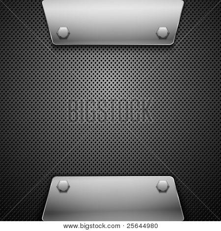 Antecedentes de metal. Ilustración del vector.