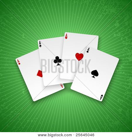 Poker aces. Vector background. Eps10