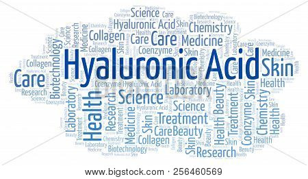 Hyaluronic Acid word cloud. Wordcloud made with text only. poster