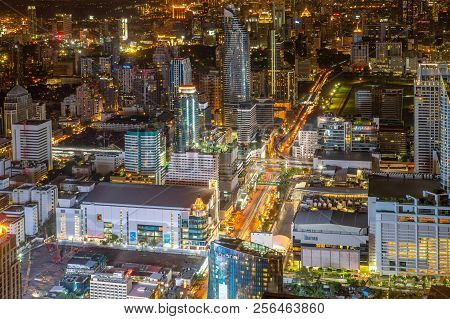 Night Of The Metropolitan Bangkok City Downtown Cityscape Urban Skyline  Thailand In  2017 - Citysca