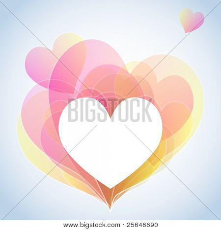 Valentine's background with pastels hearts