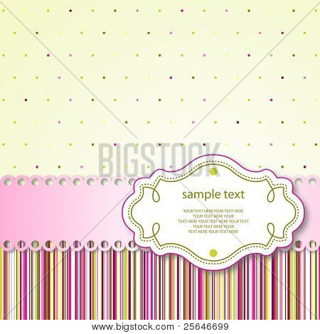 Cute template frame design for greeting card, vector version also available in my portfolio