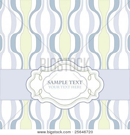 Vintage template frame design for greeting card, raster version also available in my portfolio