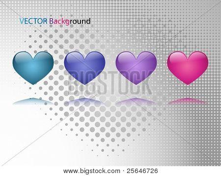 Valentine,s background, vector illustration